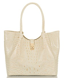 Melbourne Embossed Leather Medium Mallory Tote