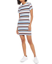 Striped Crewneck T-Shirt Dress