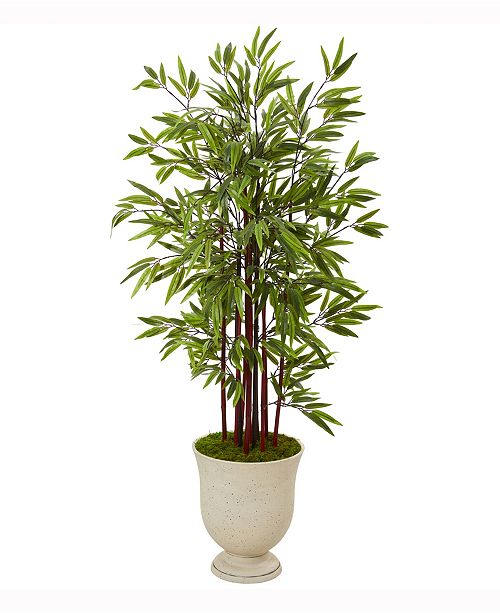 Nearly Natural 5ft. Bamboo Artificial Tree in Decorative Urn