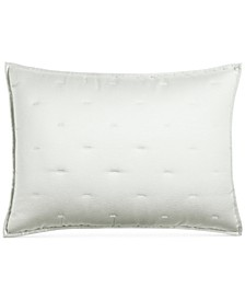 CLOSEOUT! Fresco Sage Quilted King Sham, Created for Macy's
