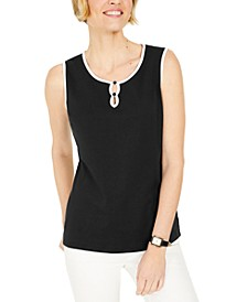 Tipped Keyhole Tank, Created for Macy's