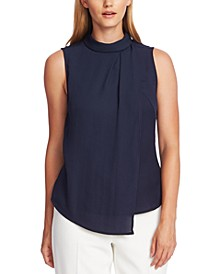 Mock-Neck Asymmetrical Top