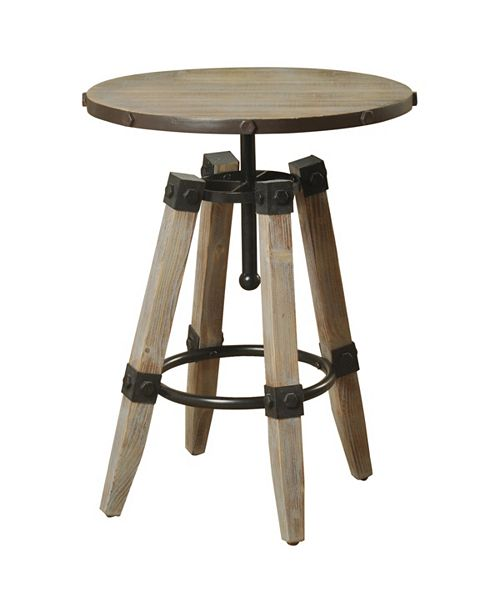 StyleCraft Industrial Side Table