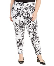 Plus Size Printed Skinny Jeans