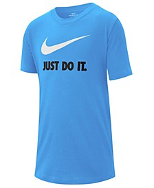 Big Boys Just Do It Swoosh Logo Cotton T-Shirt