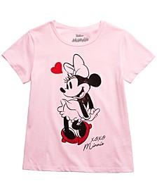 Little Girls XOXO Minnie Mouse T-Shirt