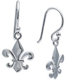 Fleur-de-Lis Drop Earrings in Sterling Silver, Created For Macy's