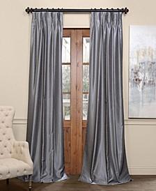 Blackout Vintage Textured Pleated Curtain Panel
