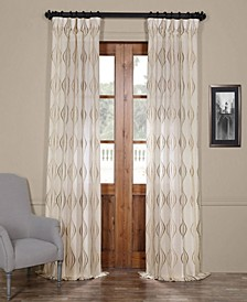 Suez Embroidered Sheer Curtain Panel