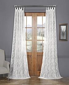 Paris Scroll Patterned Sheer Curtain Panel