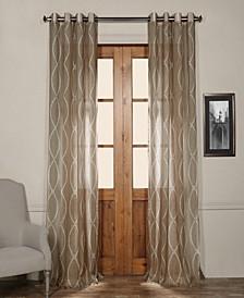 Grecian Grommet Printed Sheer Curtain Panel
