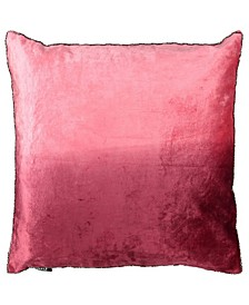 "Ombre Velvet Collection Viscose Beaded Edges Pillow, 20"" x 20"""