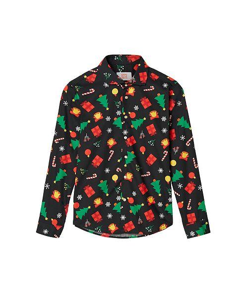 OppoSuits Big Boys Icons Christmas Shirt