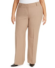 Plus & Petite Plus Size Curvy Bootcut Tummy-Control Pants,  Created for Macy's