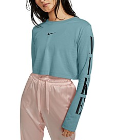 Women's Sportswear Cotton Long-Sleeve Cropped T-Shirt