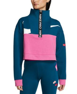 Pro Get Fit Colorblocked Fleece Half-Zip Top