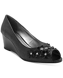 Coraa Peep Wedge Sandals, Created for Macy's
