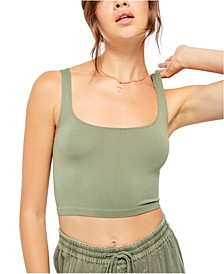 Scoop-Neck Crop Tank Top