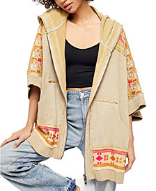 Free People Wildside Poncho Sweater