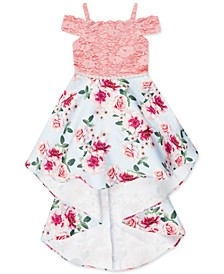 Big Girls Plus Size Lace & Floral Dress
