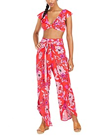 Floral Swim Cover-Up Pants, Created for Macy's