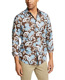 Men's Stretch Paisley Shirt, Created for Macy's