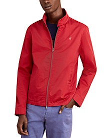 Men's Red Fleece Bomber Jacket