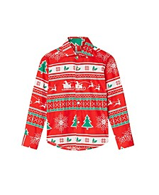 Little Boys Winter Wonderland Christmas Shirt