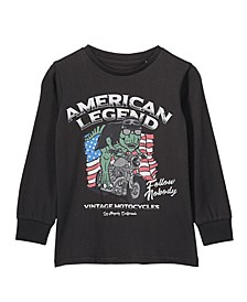 Toddler, Little and Big Boys Tom Long Sleeve Tee
