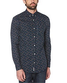 Men's Slim-Fit Geo Print Shirt