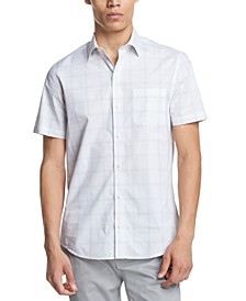 Men's Performance Stretch French Placket Plaid Short Sleeve Woven Shirt