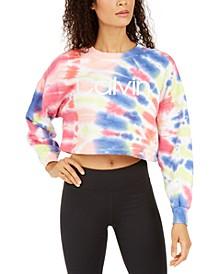 Tie-Dyed Logo Cropped Sweatshirt