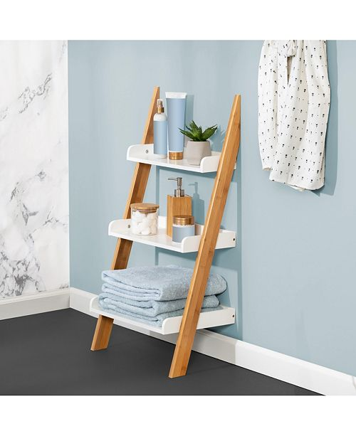 Fabulous 3 Tier Leaning Bathroom Ladder Shelf Inzonedesignstudio Interior Chair Design Inzonedesignstudiocom