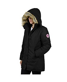 Women's Heavyweight Long Parka With Faux Fur Hood
