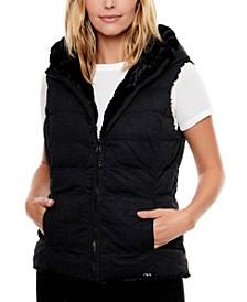 Women's Water-Resistant Freeform Knit Reversible Faux Fur Vest