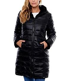 Sphere Reversible Faux Fur/Nylon Coat