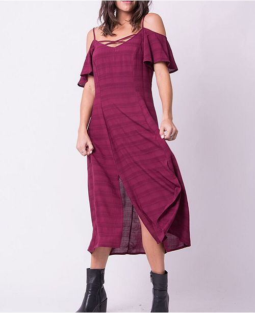 OCIIMI Spaghetti Straps Harlow Cold Shoulder Dress