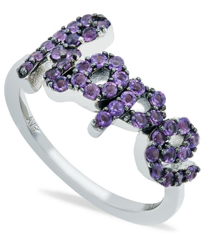 Macy's - Amethyst (1 ct. t.w.) 'Hope' Ring in Sterling Silver