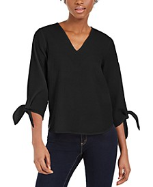 Tie-Sleeve Top, Regular & Petite