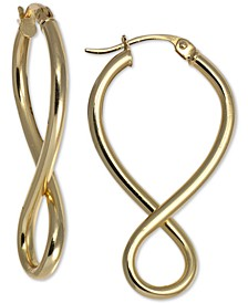 Infinity Hoop Earrings in 18k Gold-Plated Sterling Silver,  Created For Macy's