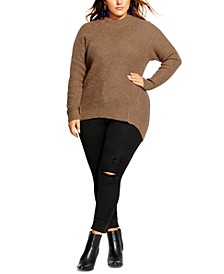 Trendy Plus Size Striking Sweater