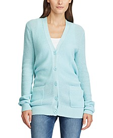Lightweight Ribbed Cotton Cardigan