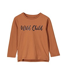 Little, Big and Toddler Girl's Stevie Long Sleeve Embellished Tee