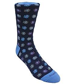 Men's Flower Design Dress Sock