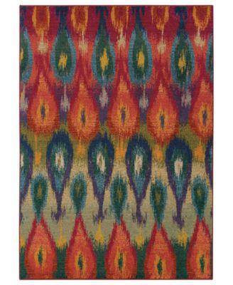 Area Rug, Kaleidoscope 2061Z Vibrant Flame 5'3