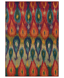 "Oriental Weavers Area Rug, Kaleidoscope 2061Z Vibrant Flame 6'7"" x 9'1"""