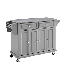 Crosley Oxford Butcher Block Top Kitchen Island With 24 Upholstered Saddle Stools Reviews Furniture Macy S