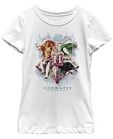 Harry Potter Big Girl's The Deathly Hallows Mystic Hogwarts Houses Short Sleeve T-Shirt