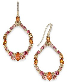 INC Rose Gold-Tone Multi-Stone Cluster Open Drop Earrings, Created for Macy's