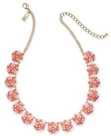 "INC Gold-Tone Pavé Flower Strand Necklace, 17"" + 3"" extender, Created for Macy's"